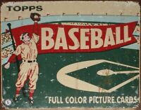 1954 Topps Baseball Box Vintage Collectible Rustic Retro Metal Sign Wall Decor