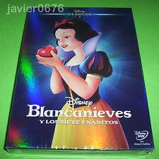 BLANCANIEVES Y LOS 7 ENANITOS CLASICO DISNEY 1 - DVD NUEVO PRECINTADO SLIPCOVER