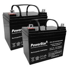 2 Pack - 12V 35Ah U1 Invacare Pronto M50, M51, M61, M71, Booster Battery