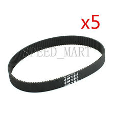 5pcs 384-3M HTD Timing Belt 128 Teeth Cogged Rubber Geared Closed Loop 15mm Wide