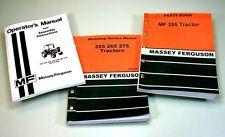 MASSEY FERGUSON MF 255 TRACTOR OPERATORS OWNERS SERVICE REPAIR PARTS MANUALS