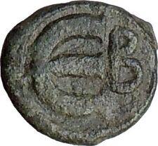 Justin Ii 565Ad Ancient Authetic Rare Genuine Byzantine Coin Monogram i21445