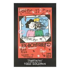 "Todd Goldman ""Ex-Boyfriend"" Signed Lithograph Poster Art"