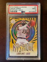 2019-20 Panini Illusions Lebron James Mystique Gold /10 PSA 9