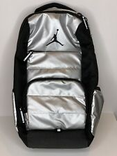 21e718b1ad Air Jordan 9A1640 - 250 All World Laptop Backpack Silver Black