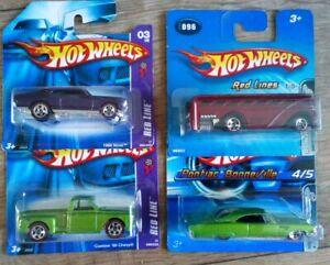 Mattel Hot Wheels Redline 4 cars unopen newv.03