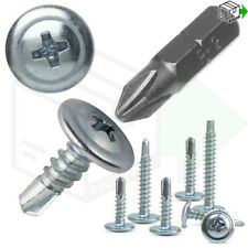 BAYPOLE SELF DRILLING/TAPPING SCREWS WAFER HEAD uPVC BAY WINDOW FIXING SCREW