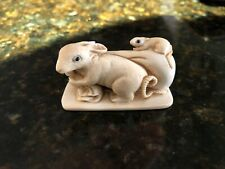 Antique Meiji Pd Japanese Deer Antler Netsuke