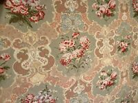 Laura Ashley Fabric Jezabelle Blush English Country Floral Print  3.6 Yards
