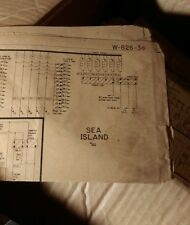 Sea Island 1959 Bingo Schematic Bally Original