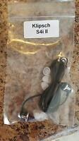 Klipsch IMAGE S4i Premium Noise-Isolating Headset w/ 3-Button Apple Control
