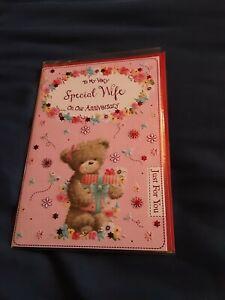 Wife anniversary Card BNIP - bear