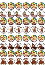 48 Curious George Cup Cake Fata commestibili wafer riso Decorazioni Per Compleanno STAND UP