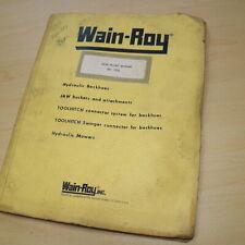 Wain Roy Cat Caterpillar 955l 2000 Series Backhoe Parts Manual Installation Book