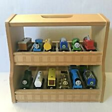 Thomas the Tank Engine Wooden Case Carrier filled with Wooden 15 Trains