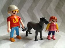 Playmobil spares family and their great dane dog