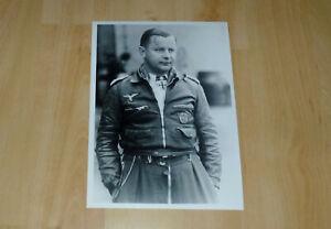 Foto Jagdflieger 2. Weltkrieg Fliegerass Orden Nachlass Rarität RK-Träger
