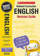 NEW Scholastic ENGLISH 8-9 (year 4) KS2 NATIONAL CURRICULUM REVISION GUIDE SATS