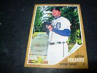 2011 Topps Heritage baseball #460 Justin Verlander Detroit Tigers SP