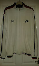 Mens Long Sleeved Jacket - Nike - White With Navy Blue & Red - Size XL UK