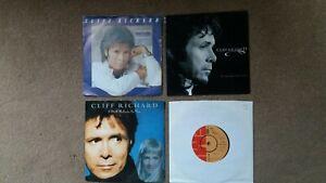 "Cliff Richard - 4 x 7"" Singles -Misunderstood Man, Never Say Die + 2 others"
