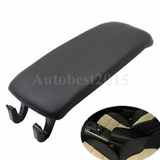 Black Arm Rest Cover Center Console Armrest Lid For AUDI A4 S4 A6 Allroad 00-06