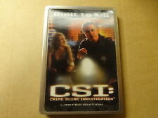 METAL CASE  DVD / CSI: CRIME SCENE INVESTIGATION - BUILT TO KILL -PARTS 1 & 2