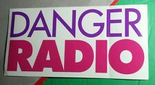 DANGER RADIO USED AND ABUSED CLEAR SEE THROUGH MUSIC RARE STICKER
