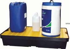60 Ltr Sump Spill Tray. Removable surface grid. Oil Chemical Bunded Drip Pallet