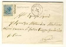 7435- Campania, Dentecane, numerale a punti per Napoli, 1874