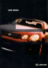 Lexus GS 300 1998-99 UK Market Foldout Sales Brochure SE