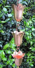 Rain Chains for Gutters Tulip Flower Blossom Copper
