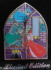 DISNEY STORE - SLEEPING BEAUTY STAINED GLASS WINDOW PIN - THREE FAIRIES - 1 OF 4