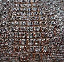 97 sf 4 - 4.5 oz. Brown Crocodile Alligator Print Cow Hide Leather Skin cg2k -n