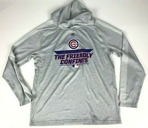 NWT Majestic Chicago Cubs Wrigley Field Friendly Confines Cool Base Hoodie sz L