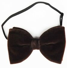 Brown velvet bow tie pre tied custom fit to any size vintage 1970s 1980s