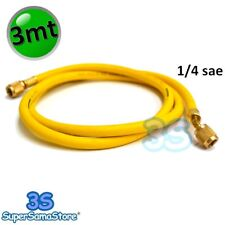 "3S TUBO FRUSTA FLESSIBILE per GAS REFRIGERANTE R600A R407c R134A 1/4"" SAE 300 cm"