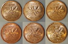 1984 to 1989 Canada 1 Cent BU