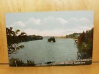 A7) Postcard Little Island BEALS COVE Orr's Island ME shore view foliage