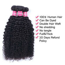 Kinky Curly hair 3 Bundles Natural color 14'' Brazilian Virgin hair Extensions