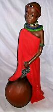 Al Minah 'She is Trustworthy' 2001 Figurine - African Woman in Red