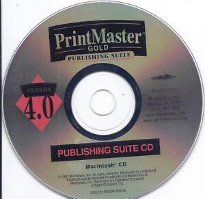 PrintMaster Gold Publishing Suite - MAC CD Vintage Software