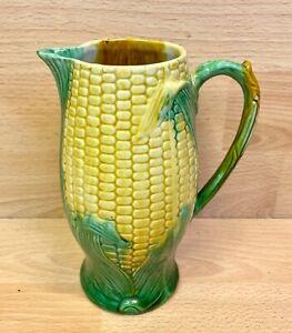 """Victorian George Jones Majolica """"Corn Cob"""" Jug C.1880."""