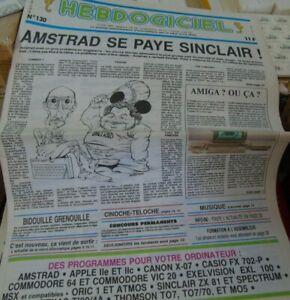 Hebdogiciel n°130 avr 1986 Amstrad se paye Sinclair l'amiga arrive en France