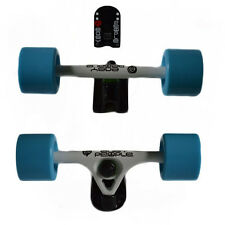 Easy People Longboards White Truck set Blue wheels,Spacer,ABEC-7