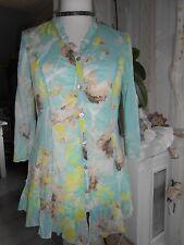 NEU KAPALUA zauberhafte Bluse Rüschen BÜGELFREI Baumwolle