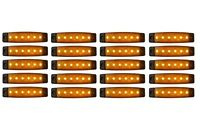 20x 12V Orange 6 LED Leuchte E9 Begrenzungsleuchte LKW Positionsleuchte