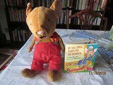 If You give a Mouse Kohls Cares Plush Red Overalls&board book