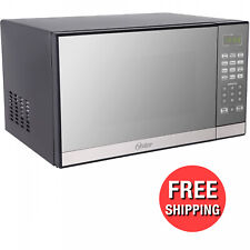 Oster 1.3 Cu. Ft. Stainless Steel with Mirror Finish Microwave Oven with Grill