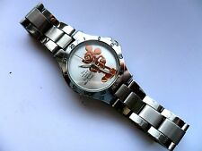 Impresionante One and Only Oro Reloj De Acero Inoxidable Para Adulto De Mickey Mouse